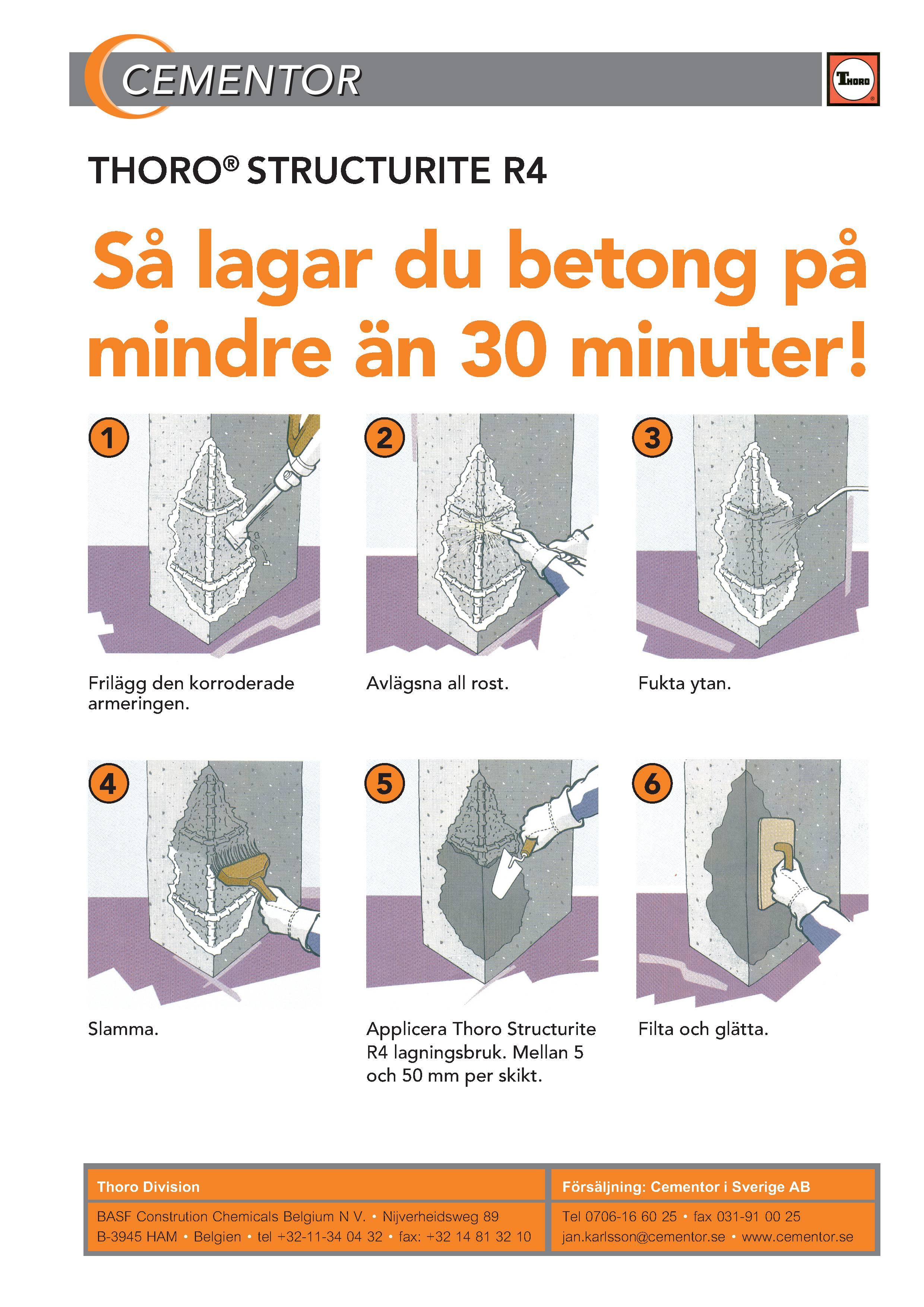 laga sprickor i betonggolv